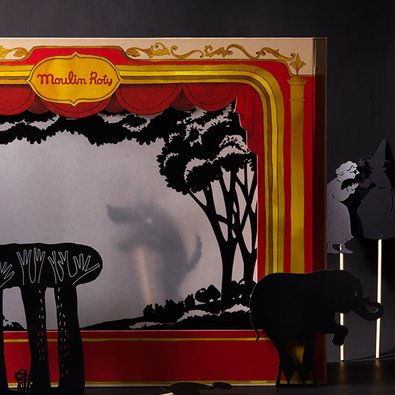 les histoires du soir - stories of the night - shadow puppets and puppet theatres