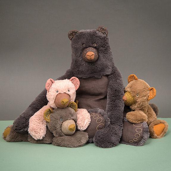 family of cute teddy bears - embroidered teddy bears